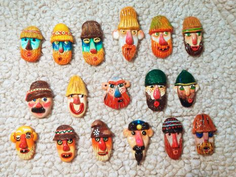 Traditional Romanian Masks (with a twist) 2 by AnirBrokenear