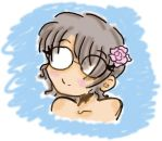 glasses and a flower by xXdistdeathXx