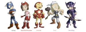 Avenger Kids NOW WITH HAWKEYE by JoshawaFrost