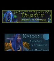 Kadzim and Druideeon by shrela