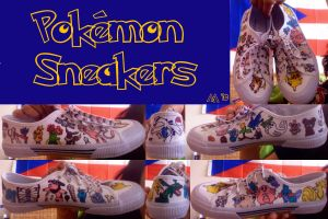 Pokemon Sneakers by westiepup
