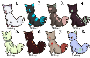 5 Point Kitties (PENDING) by PikPik-Adoption
