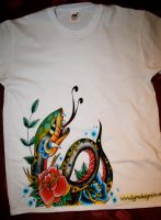 Airbrushed T-Shirt snake by itchysack
