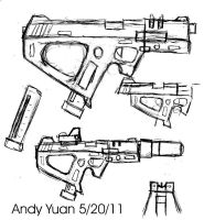 Machine Pistol Design by c-force