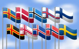 Nordic flags by Kristo1594