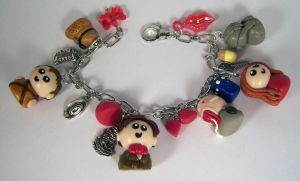 11th Doctor Who Charm Bracelet by sweet-geek