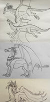 Wings of Fire: Prince Arctic Sketch Dump by Iron-Zing