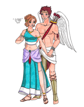 Disney's Psyche and Cupid by zoro4me3