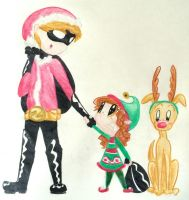 The Secret Santa and his little helpers by TheMidnightRainstorm