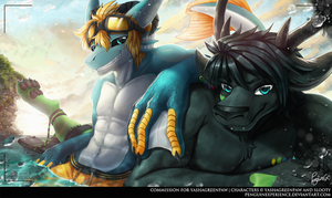 Commission  for YashaGreenPaw by PenguinEXperience