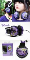 Purple dudes Headphones by Bobsmade