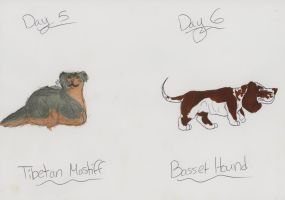 100 Dog Breed Challenge Days 5 and 6 by silver-moonwolf