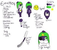 Emomo Reference Sheet by ChapperIce