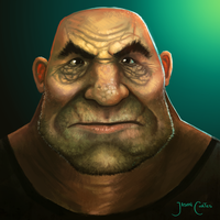 Hairy Old Man Face by AtTheSpeedOfFetus
