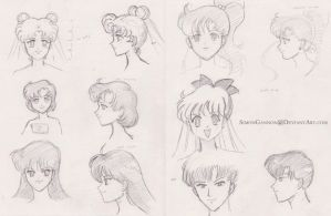 Sailor Moon drafts by SimonGannon