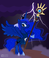 Princess Luna as The Shaman from 'Populous' [!C] by dm29