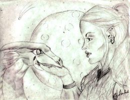 A Girl and Her Dragon by takysa