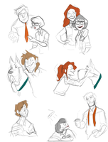 Scooby Sketches by TopHatTurtle