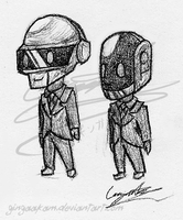 Traditional: Daft punk chibis by GingaAkam