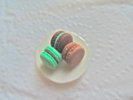 Chocolate Macarons by AGTCT