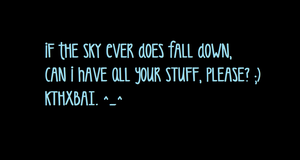 If the Sky Falls - Wallpaper by AnimeExtremist