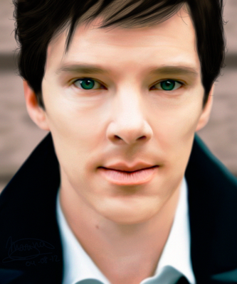 Benedict Cumberbatch by MarinaSchiffer