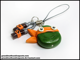 Michaelangelo Phone Charm by GrandmaThunderpants