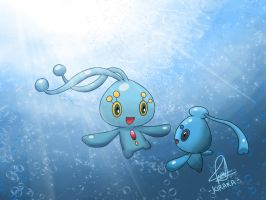 Manaphy x Phione by Kirara-CecilVenes