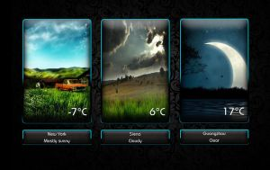 Boss Weather 6 for xwidget by jimking