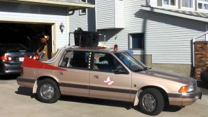 1989 Dodge Spirit Ghostbusters Car For Halloween by FastLaneIllustration