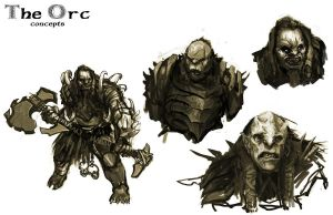 Orc concepts by RiceandEggs