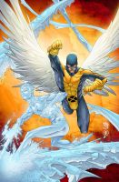 Xmen First Class Angel+Iceman by AlonsoEspinoza