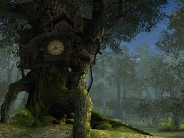 Fantasy forest background 2 by indigodeep