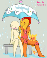 Adventure Time Collab: Oc X Flame Prince by animelover276