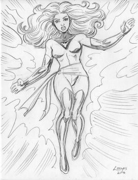 Jean Grey as Phoenix pencil commission by SatyQ