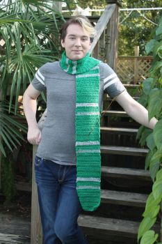 Harry Potter Slytherin Scarf Commission. by RybusRyo