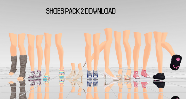 MMD Shoes Pack 2 DL by UnluckyCandyFox