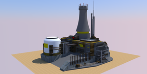 A nuclear power station by SquidEmpire