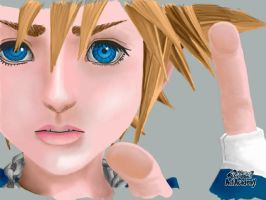 Sora from Kingdom Hearts: 3DS drawing (Old) by DarkSuperNinja