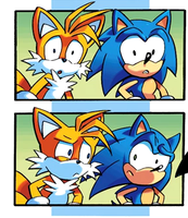 Sonic and Tails' Confused Stares XD by RocketSonic