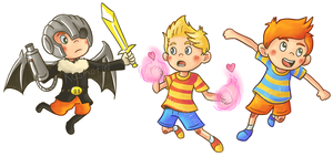 Mother 3 Stickers / Magnets by Kosmotiel