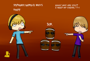 PewDiePie and AttackingTucans encounter by Anime-Gamer-Girl