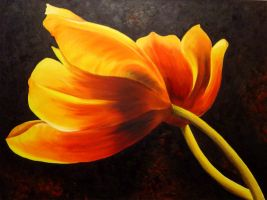Tulip painting by lils23