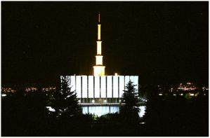 Provo Temple at Night by Toja7777777