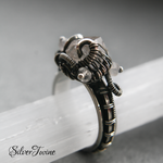 Herkimer Ring in Sterling Silver by SilverTwine