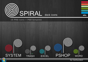 Spiral dock icons by Carburator