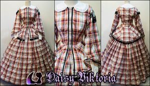 Plaid Civil War Dress by DaisyViktoria