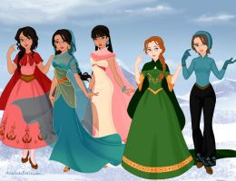 Winter Dreamworks Girls by ajhistoric2