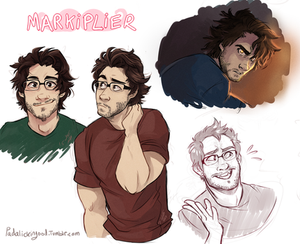 Markiplier Sketch Dump by Aibyou