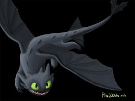 Toothless - Night Fury by pito200decimals